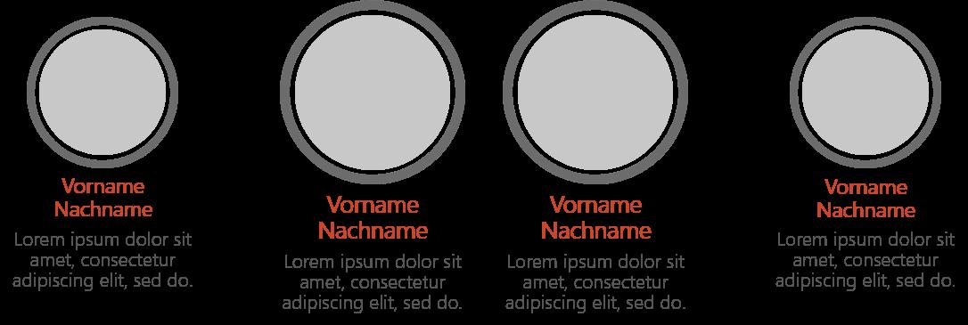 PowerPoint Vorlage: Teamvorstellung mit Bildern in Ringen