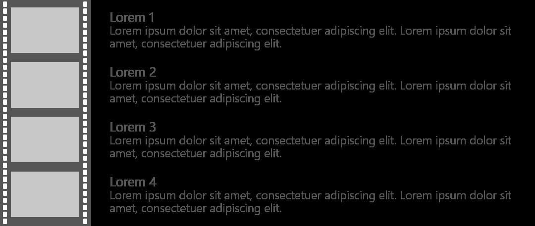 PowerPoint Vorlage: Zeitstrahl als Filmstreifen