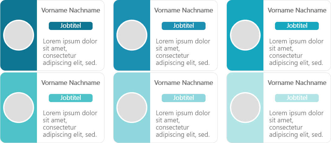 PowerPoint Vorlage: Teamvorstellung mit runden Bildern