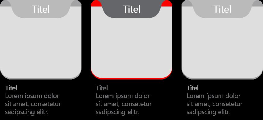 PowerPoint Vorlage: Bild und Content in abgerundeten Quadraten