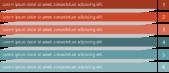 PowerPoint Vorlage: Agenda mit Balken und Schatten