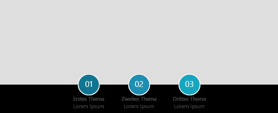PowerPoint Vorlage: Agenda mit breitem Hintergrundbild