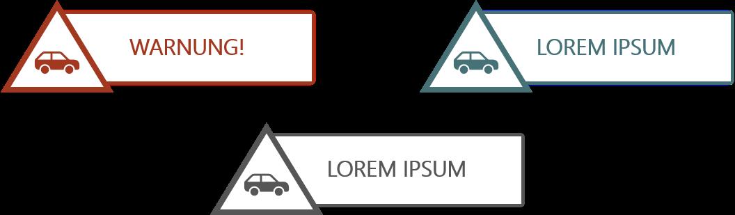 PowerPoint Vorlage: Sticker für Gefahr