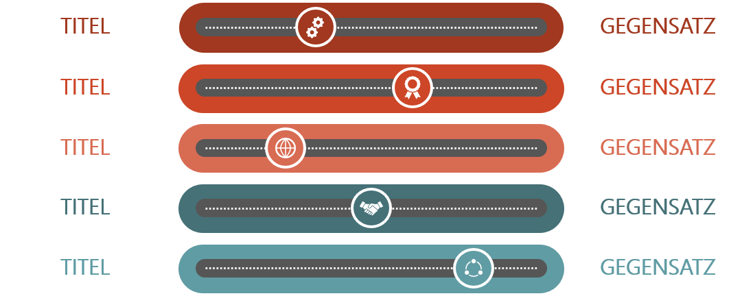 PowerPoint Vorlage: Ranking-Vergleich mit Schieberegler