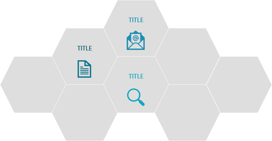PowerPoint Vorlage: Waben-Bildlayout mit Piktogrammen