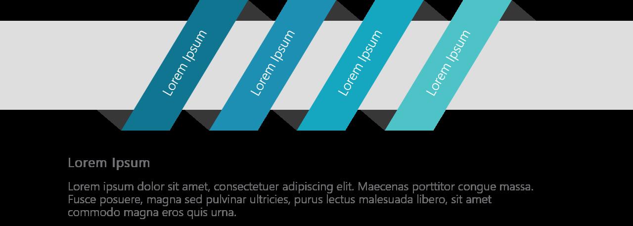 PowerPoint Vorlage: Schlüsselwerte in schräger Anordnung
