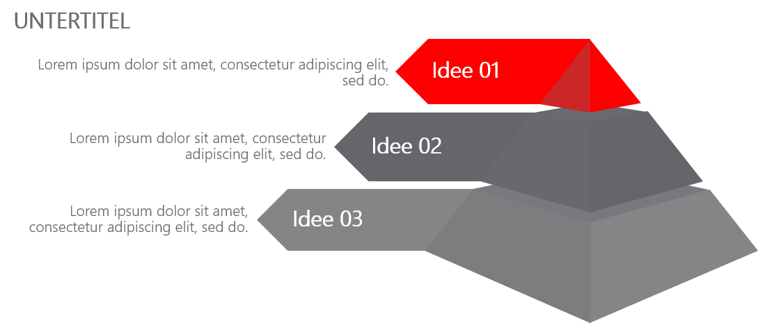 PowerPoint Vorlage: 3D-Pyramide für Ideen