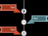 PowerPoint Vorlage: Vertikaler Workflow mit Lesezeichen