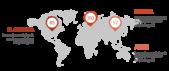 PowerPoint Vorlage: Weltkarte mit Markern