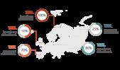 PowerPoint Vorlage: Landkarte mit Prozentangaben