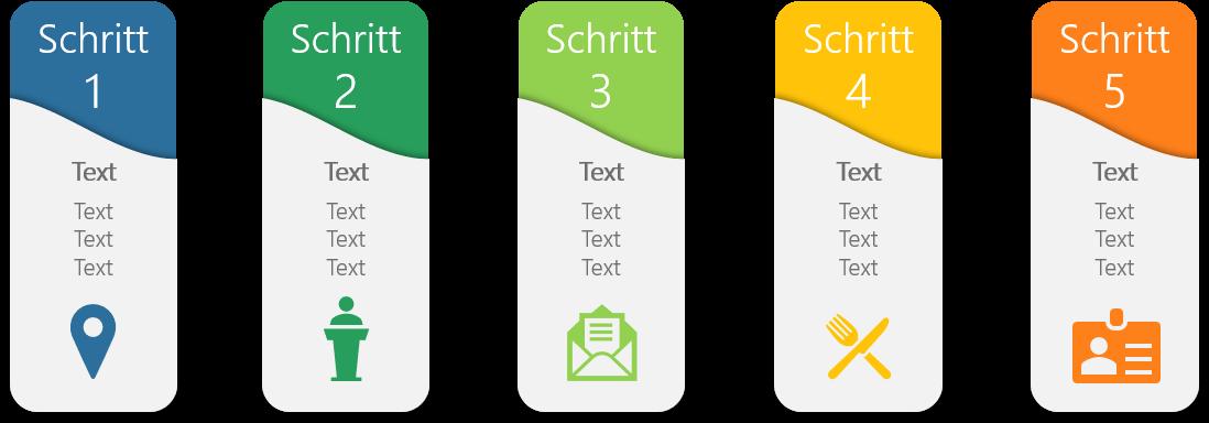 PowerPoint Vorlage: Prozess im Register-Look