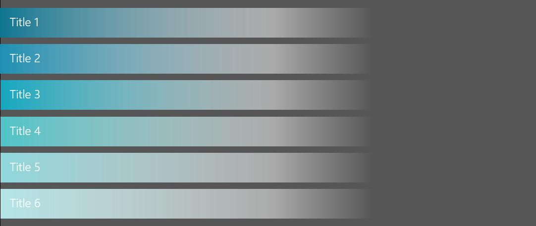 PowerPoint Vorlage: Agenda mit Farbverlauf