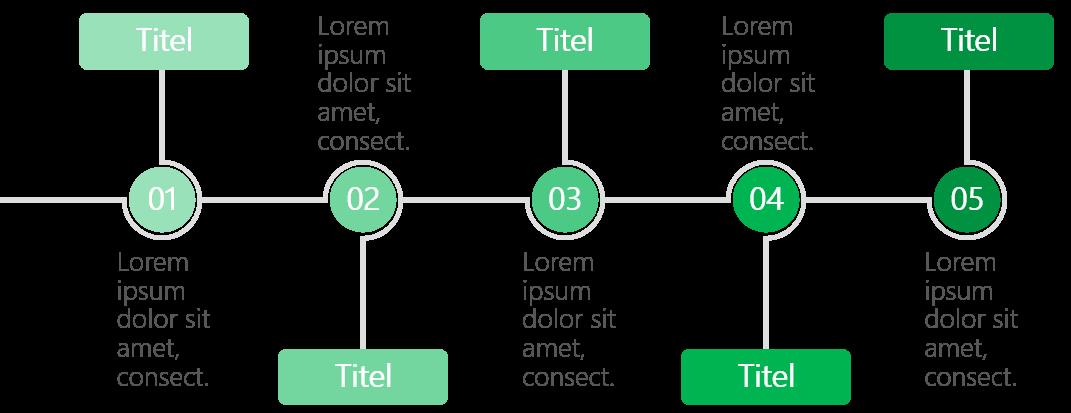 PowerPoint Vorlage: Workflow mit Kreisen und Rechtecken