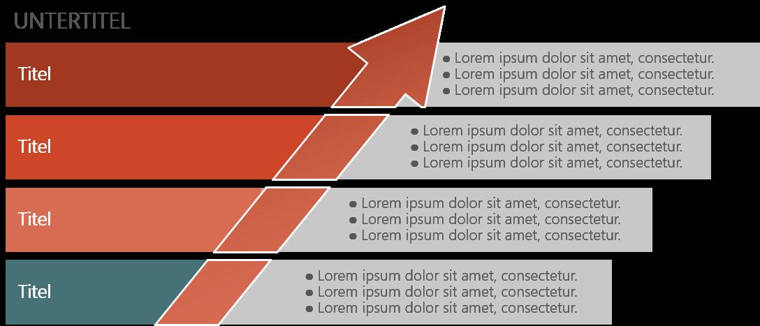 PowerPoint Vorlage: Unternehmensentwicklung mit Pfeil