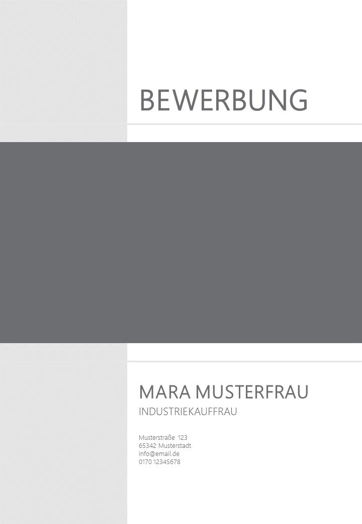 PowerPoint Vorlage: Deckblatt mit Foto im Rechteck