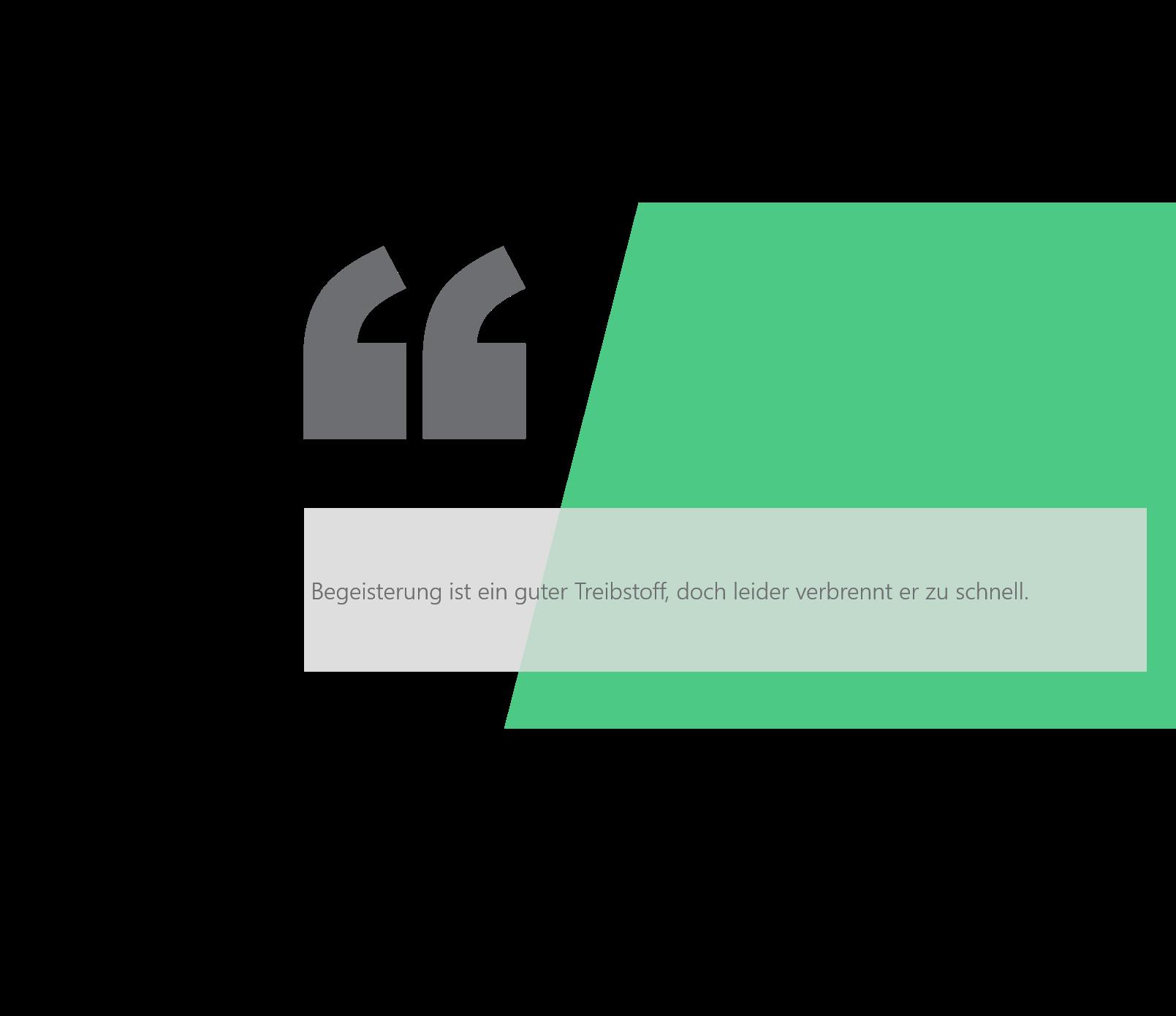 PowerPoint Vorlage: Zitat mit abgeschrägtem Bild