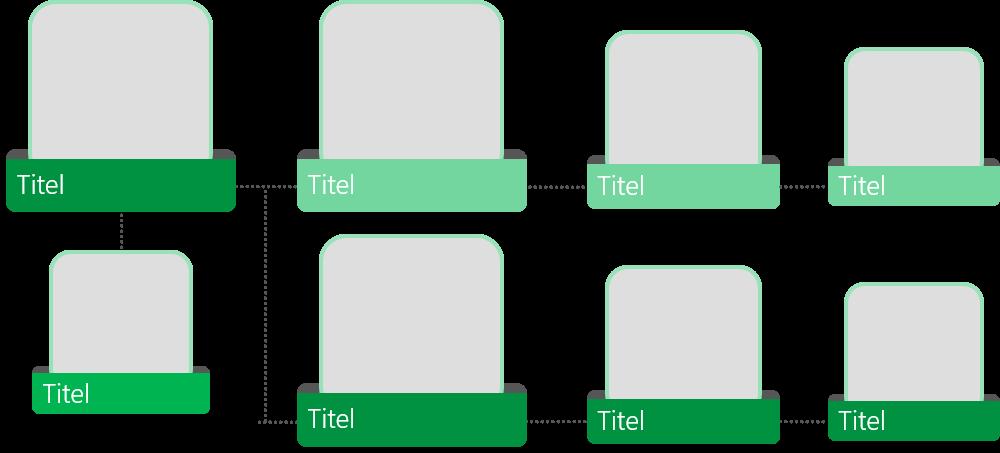 PowerPoint Vorlage: Organigramm mit Bildern