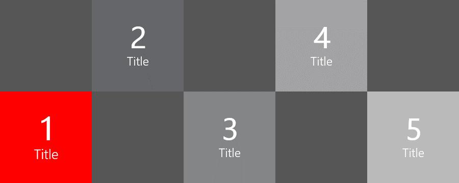 PowerPoint Vorlage: Agenda mit Bildern im Kachel-Look