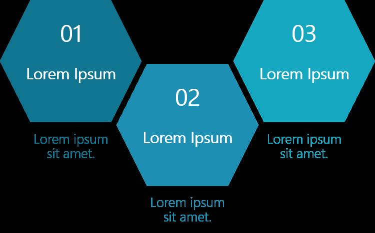 PowerPoint Vorlage: Vertriebsfaktoren in Waben-Form
