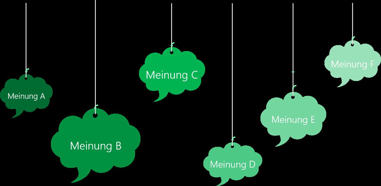 PowerPoint Vorlage: Kernaussagen mit Sprechwolken