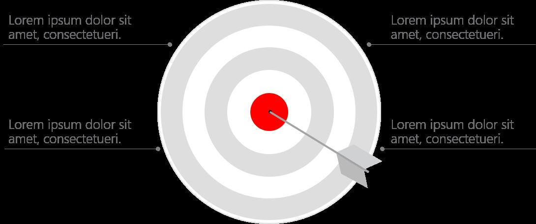 PowerPoint Vorlage: Zielscheibe mit Pfeil
