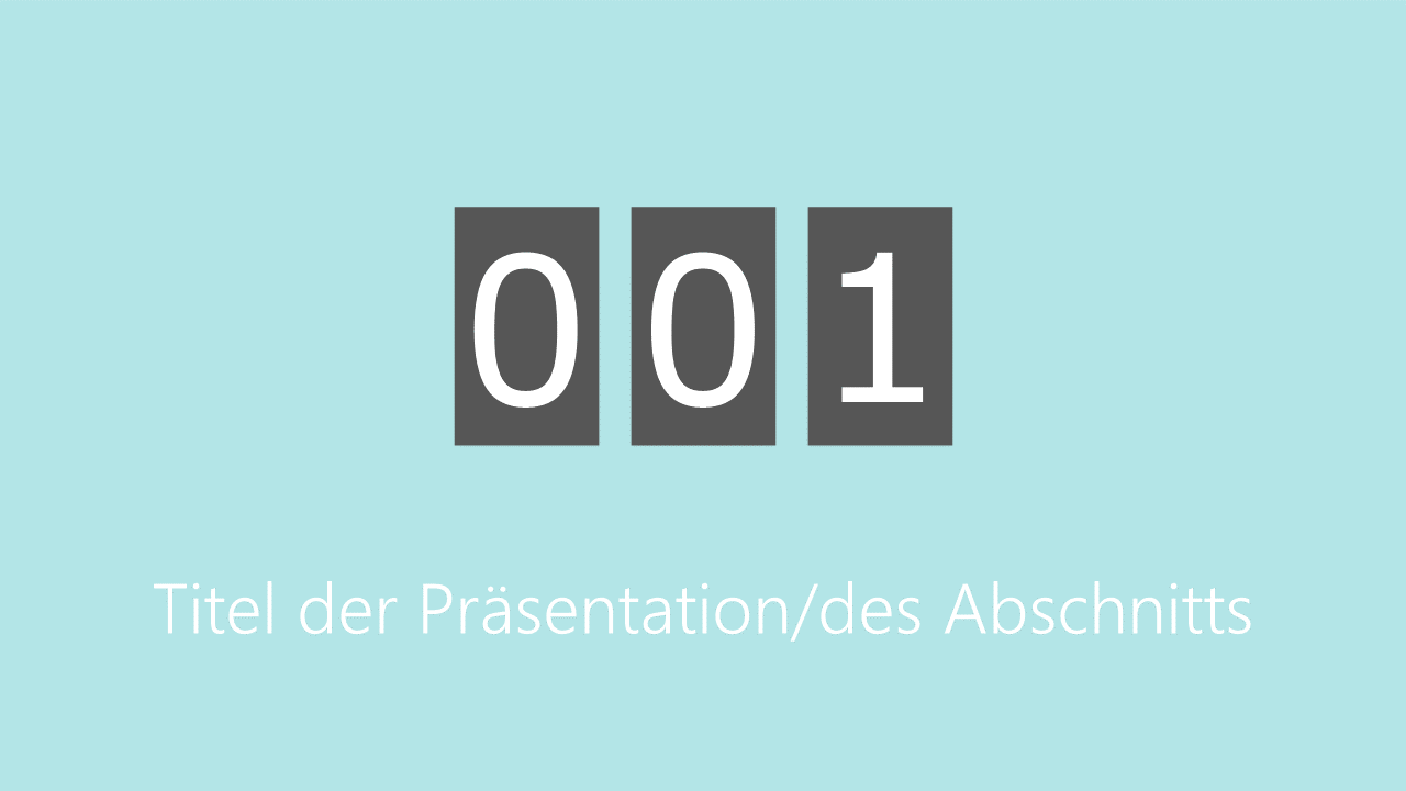 PowerPoint Vorlage: Countdown mit Anzeigetafel