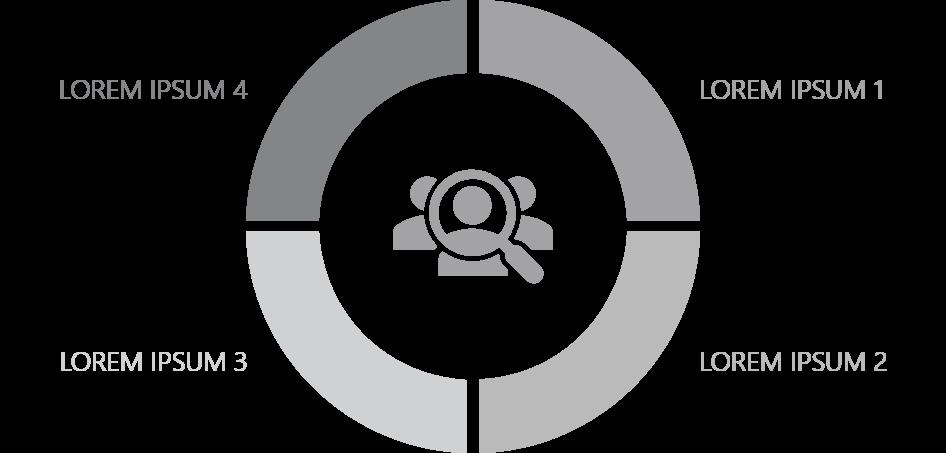 PowerPoint Vorlage: Zielgruppen in einem Ringdiagramm