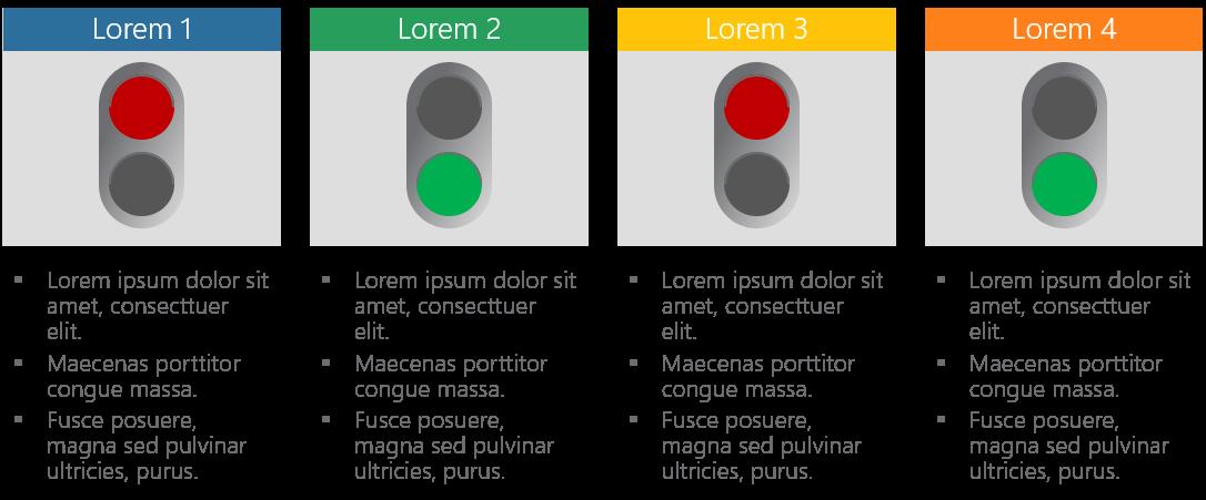 PowerPoint Vorlage: Projektstatus mit Ampeldarstellung