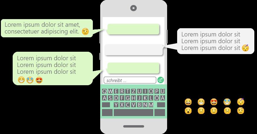 PowerPoint Vorlage: Chat im Smartphone