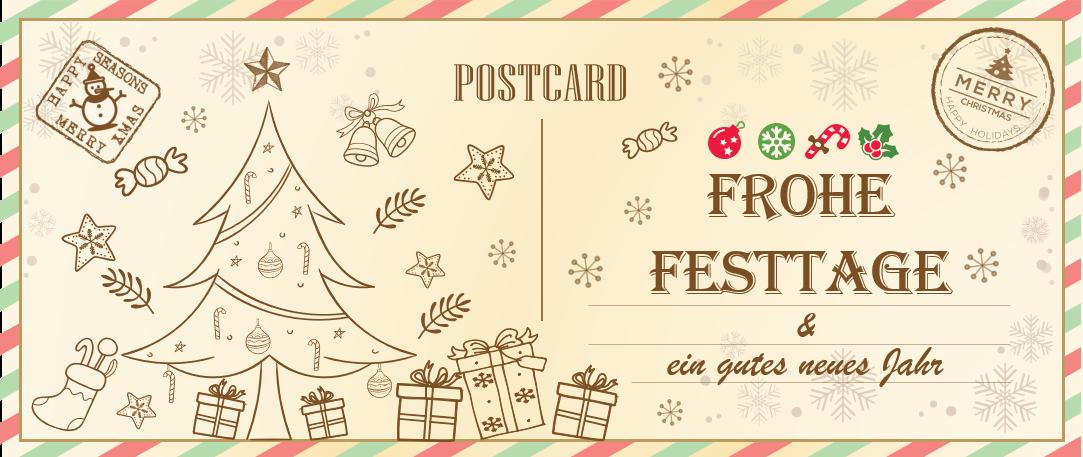 PowerPoint Vorlage: Weihnachtskarte - Motiv 1