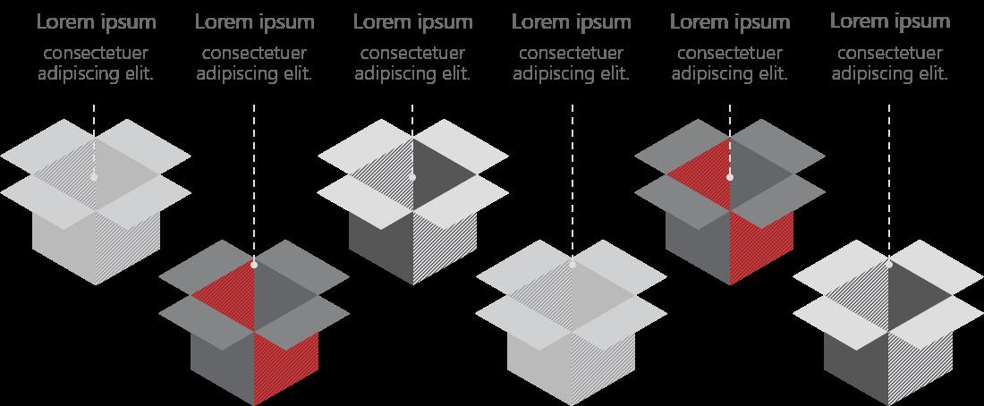 PowerPoint Vorlage: Produktvorstellung mit Kartons