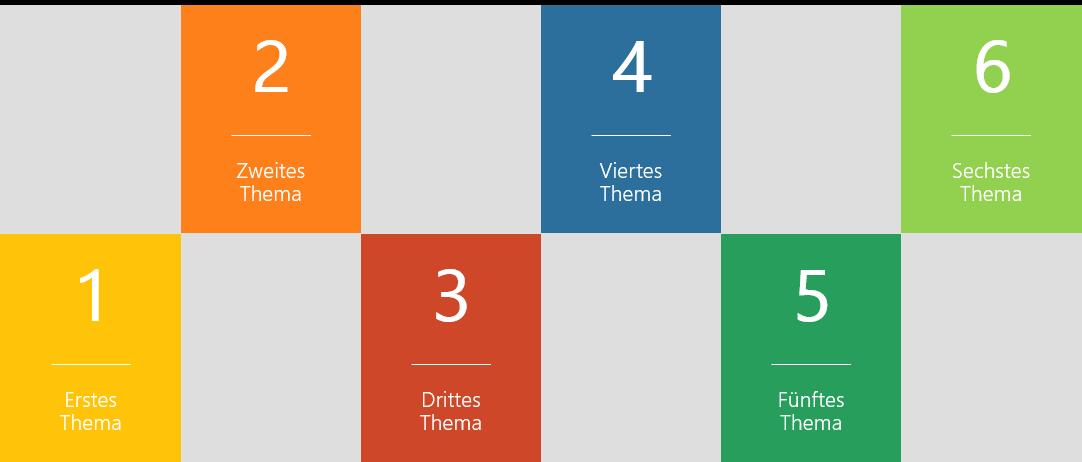 PowerPoint Vorlage: Agenda mit ergänzenden Bildern
