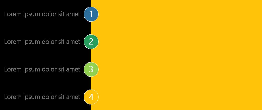 PowerPoint Vorlage: Agendapunkte an der Seite eines Bildes
