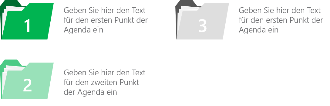 PowerPoint Vorlage: Agenda im Ordner-Look mit Zahlen