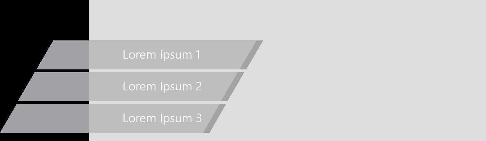 PowerPoint Vorlage: Agenda mit abgeschnittenen Balken und Bild