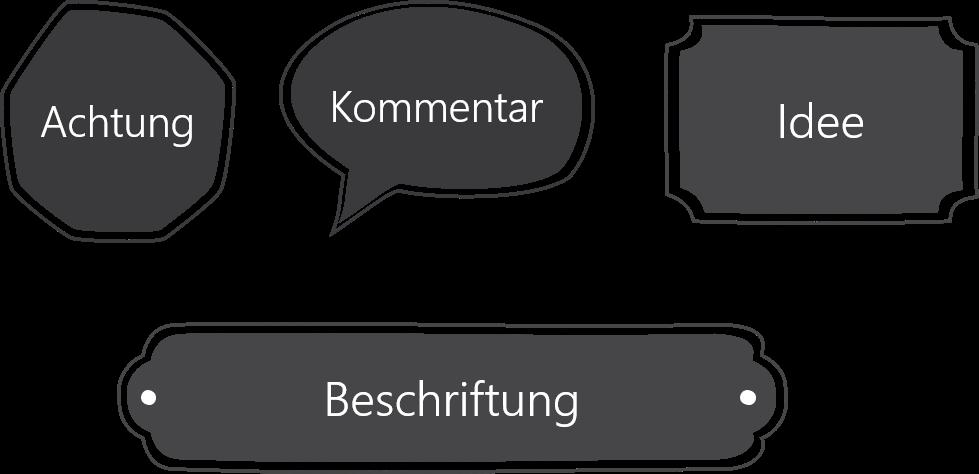PowerPoint Vorlage: Handgezeichnete ausgefüllte Formen