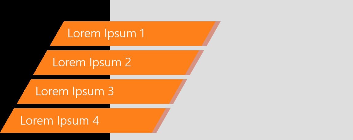 PowerPoint Vorlage: Agenda mit schrägen Balken und Bild