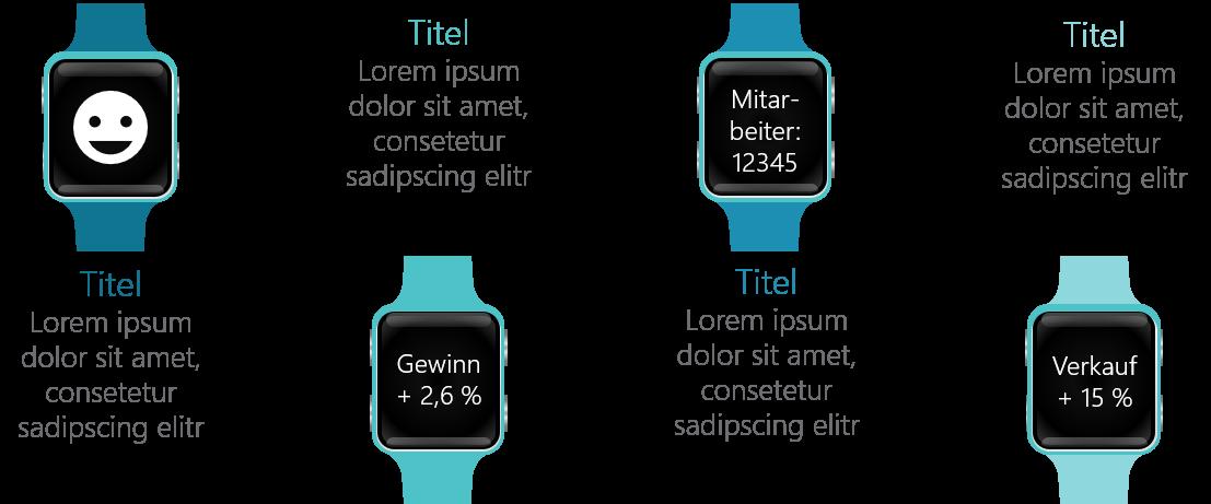 PowerPoint Vorlage: Darstellung mit Smartwatch und Text