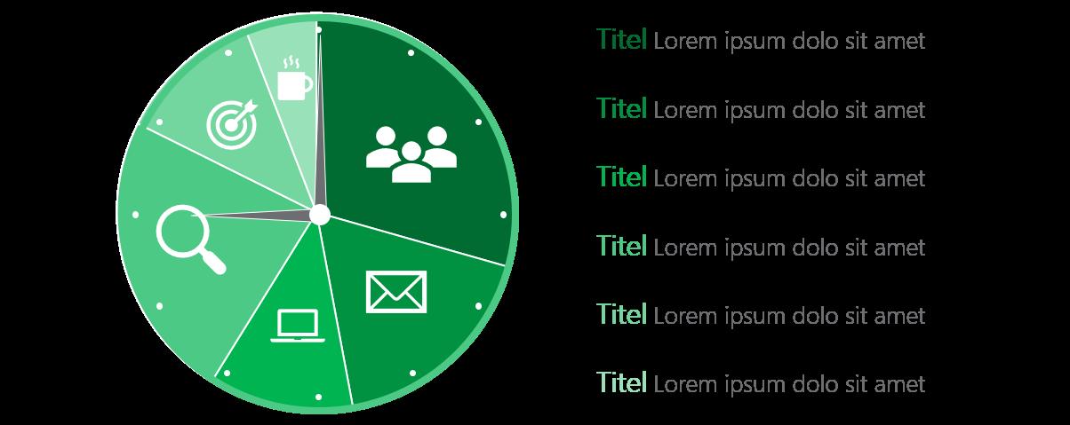 PowerPoint Vorlage: Zeitfresser darstellen mit Piktogrammen