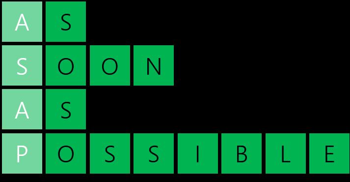PowerPoint Vorlage: Abkürzungen in Kreuzworträtsel