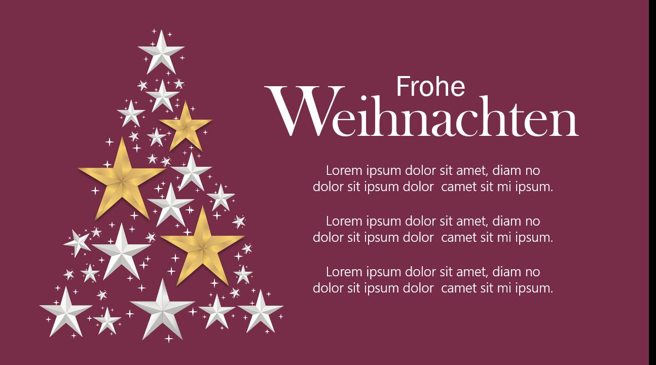 PowerPoint Vorlage: Weihnachtsgrüße