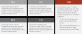 PowerPoint Vorlage: Text und Aufzählungen in Tabellenform