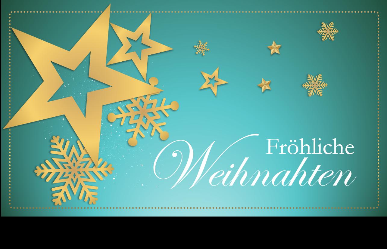 PowerPoint Vorlage: Fröhliche Weihnachten Grußkarte