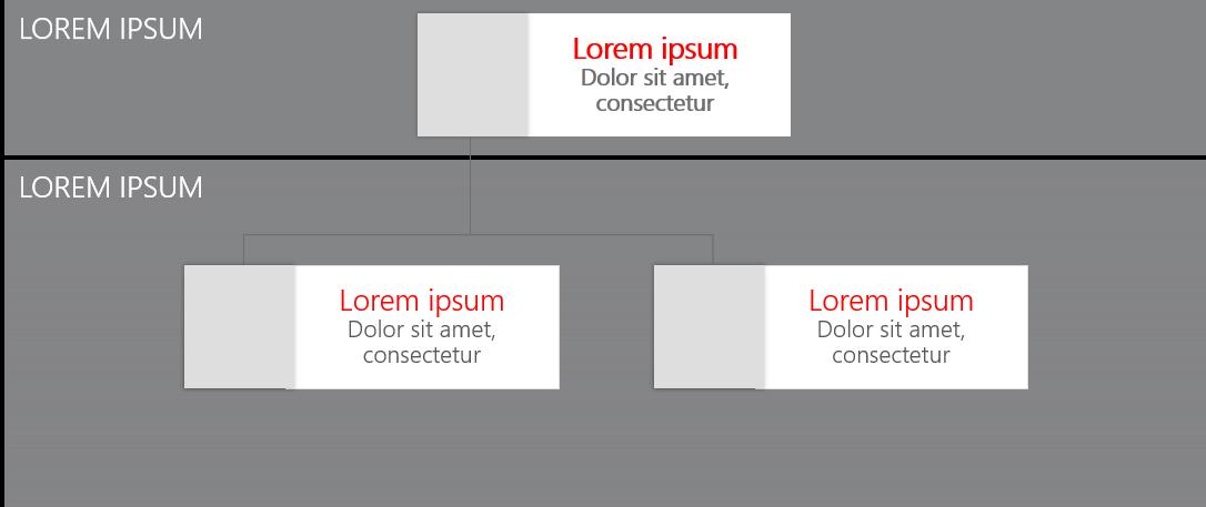 PowerPoint Vorlage: Vertriebsstruktur als Organigramm