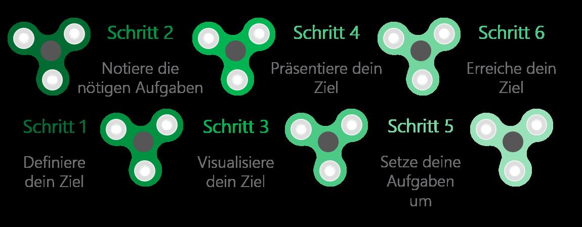 PowerPoint Vorlage: Auflistung mit Fidget Spinner
