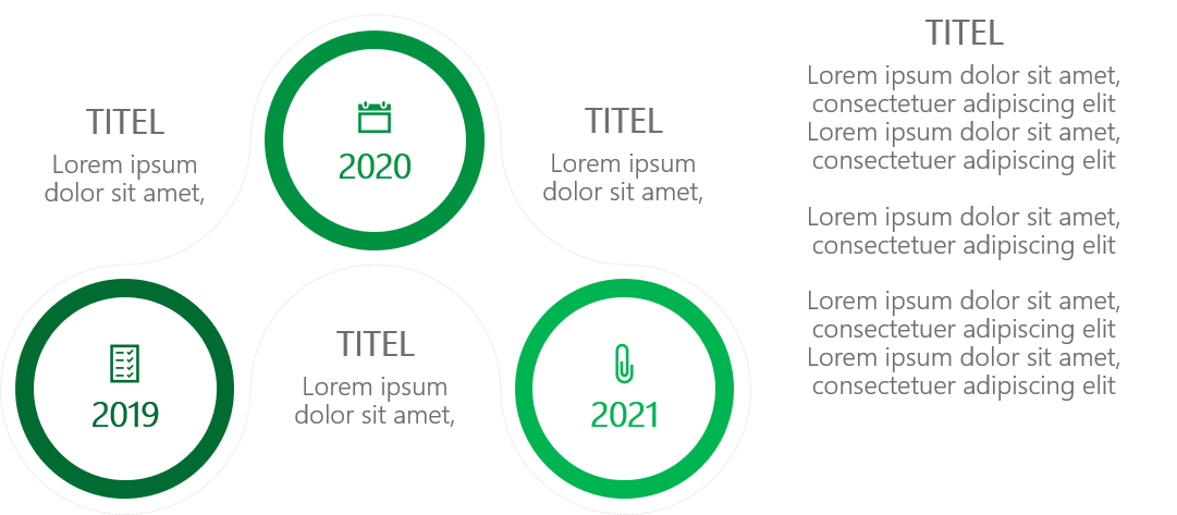 PowerPoint Vorlage: Timeline in Kettenform