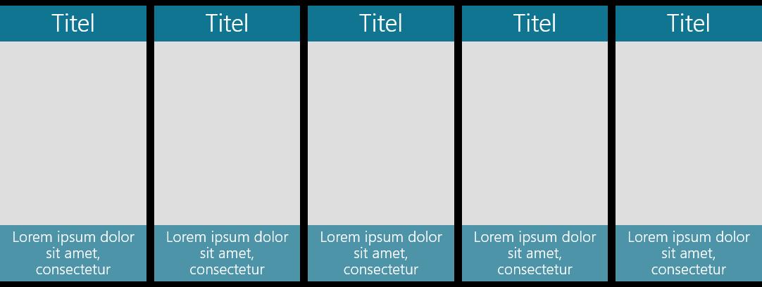 PowerPoint Vorlage: Bilder mit Untertitel