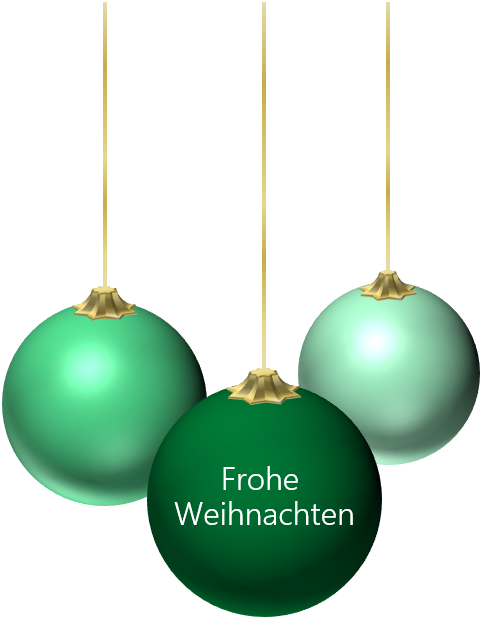 PowerPoint Vorlage: 3D Weihnachtskugeln