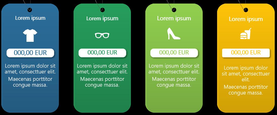 PowerPoint Vorlage: Preistabelle mit Piktogrammen