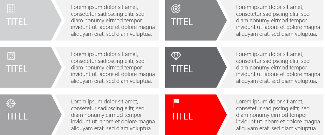 PowerPoint Vorlage: Text und Aufzählungen mit Zielsetzung